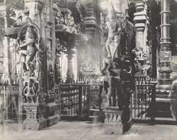 [Interior of one of the] Madura Temples